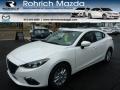Snowflake White Pearl 2014 Mazda MAZDA3 i Grand Touring 4 Door