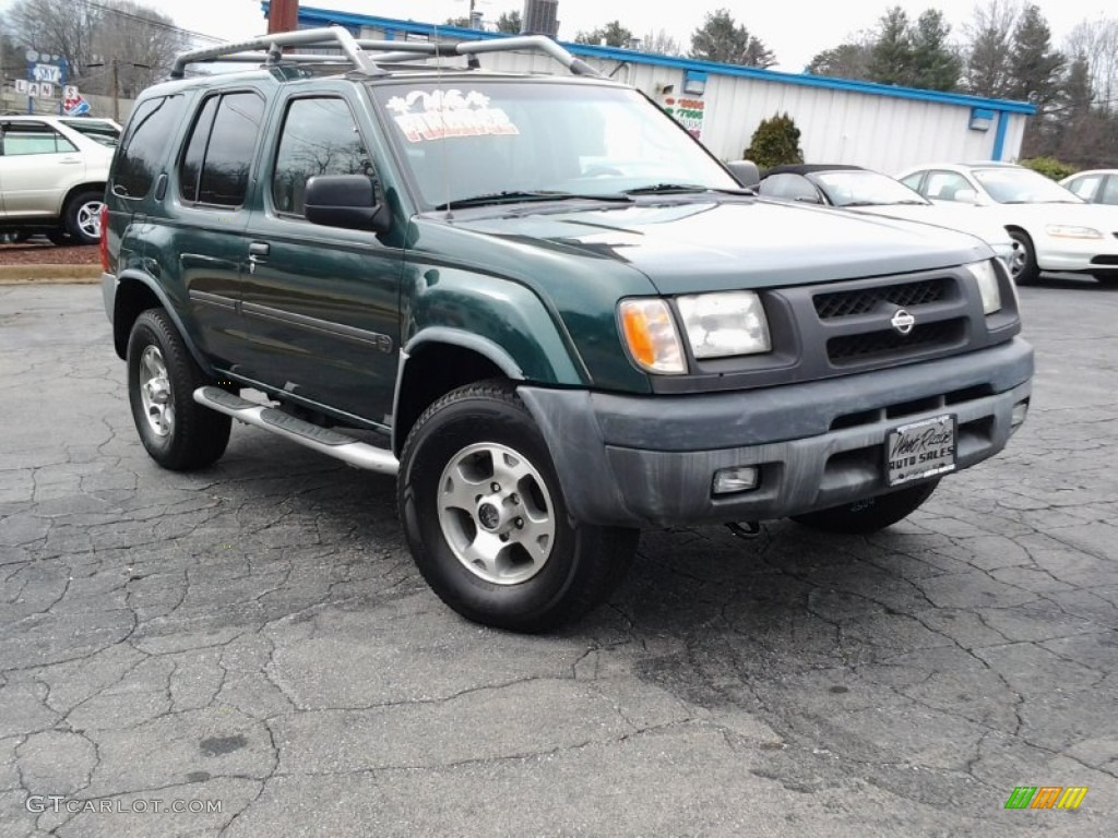 2000 alpine green metallic nissan xterra xe v6 4x4. Black Bedroom Furniture Sets. Home Design Ideas