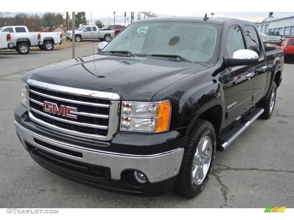 onyx black 2013 gmc sierra 1500 sle crew cab exterior photo 89296659. Black Bedroom Furniture Sets. Home Design Ideas