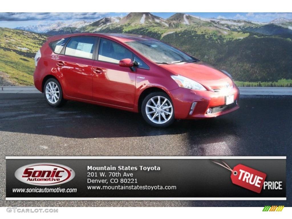 2014 Barcelona Red Metallic Toyota Prius v Five #89300616 ... Prius V 2014 Red