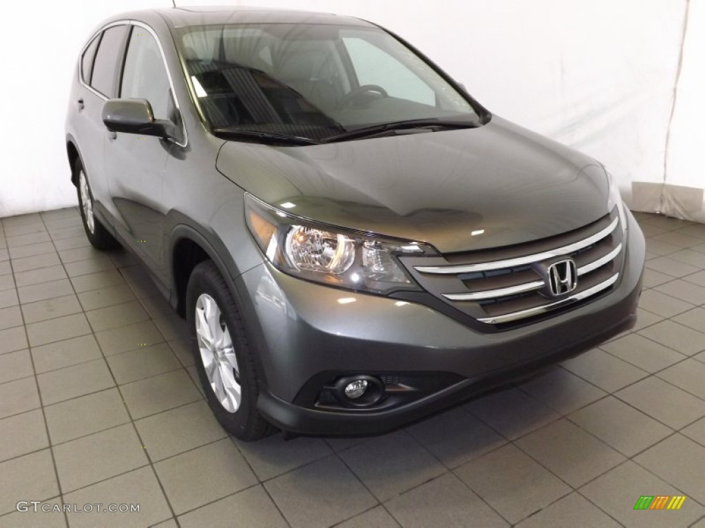 2014 CR-V EX - Polished Metal Metallic / Gray photo #1