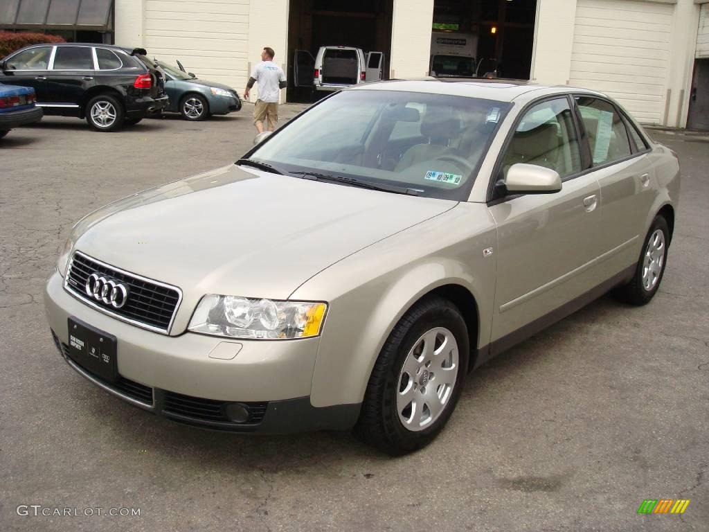 2002 canvas beige metallic audi a4 1 8t quattro sedan 8915171 car color galleries. Black Bedroom Furniture Sets. Home Design Ideas
