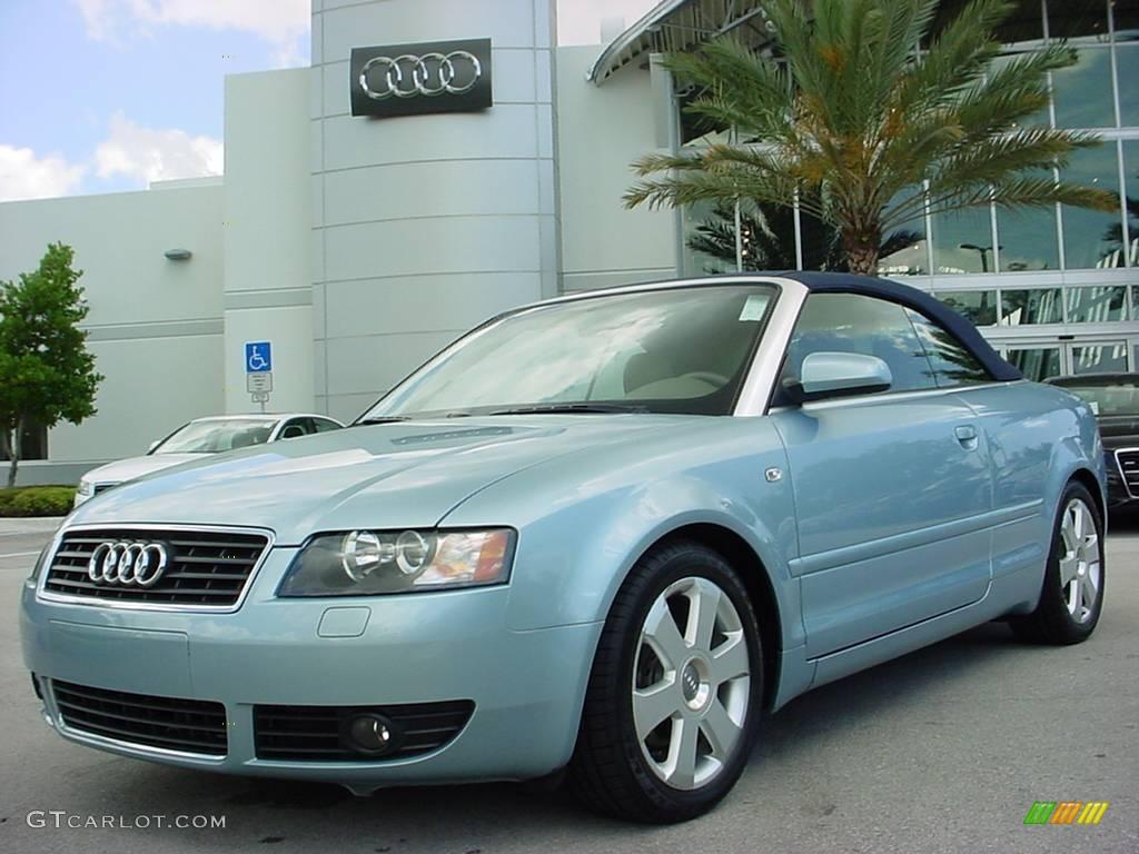 2006 aquamarine blue metallic audi a4 1 8t cabriolet 8916121 car color galleries. Black Bedroom Furniture Sets. Home Design Ideas