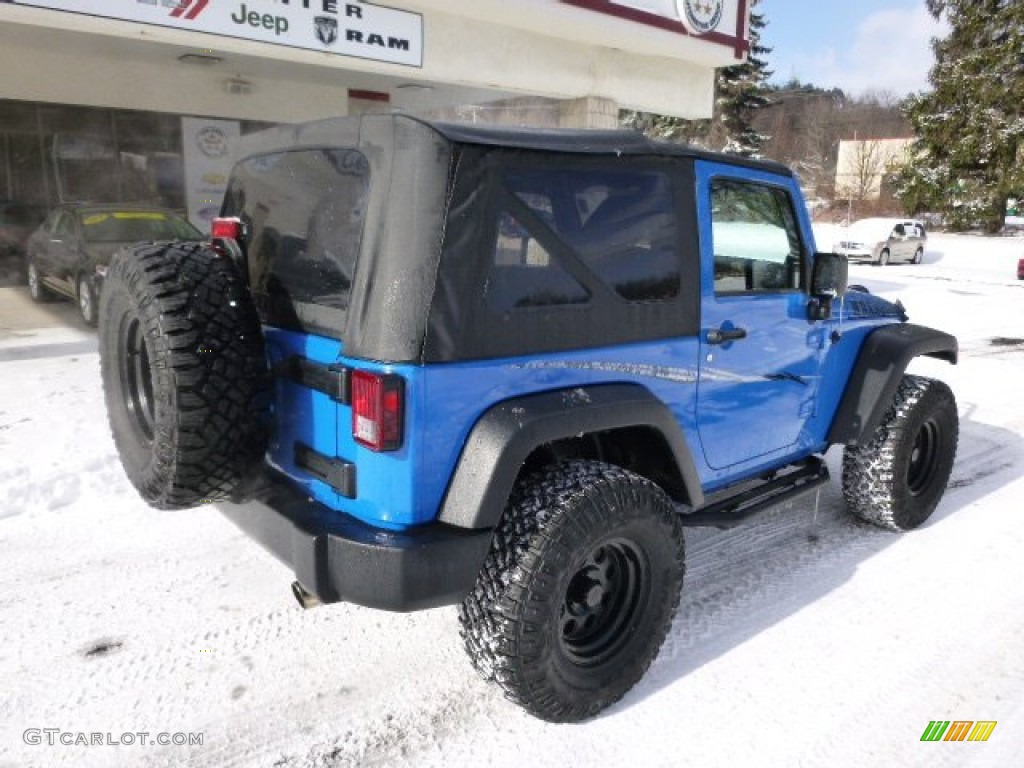 2012 Wrangler Sport 4x4 - Cosmos Blue / Black photo #8