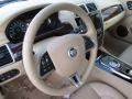 2014 Jaguar XK Caramel/Caramel Interior Steering Wheel Photo