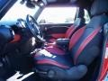 Rooster Red Leather/Carbon Black 2010 Mini Cooper Interiors