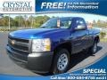 2013 Blue Topaz Metallic Chevrolet Silverado 1500 Work Truck Regular Cab  photo #1