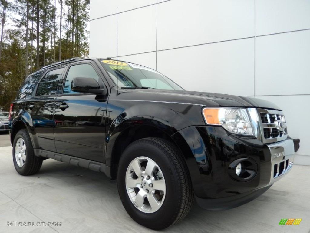 Ebony Black 2012 Ford Escape Limited Exterior Photo