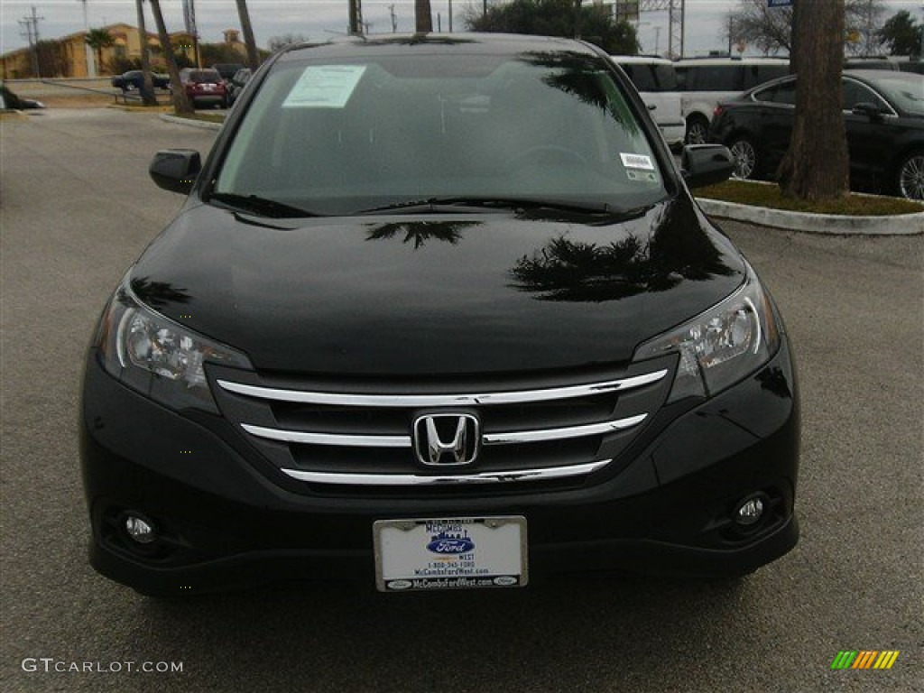 2012 CR-V EX - Crystal Black Pearl / Black photo #1