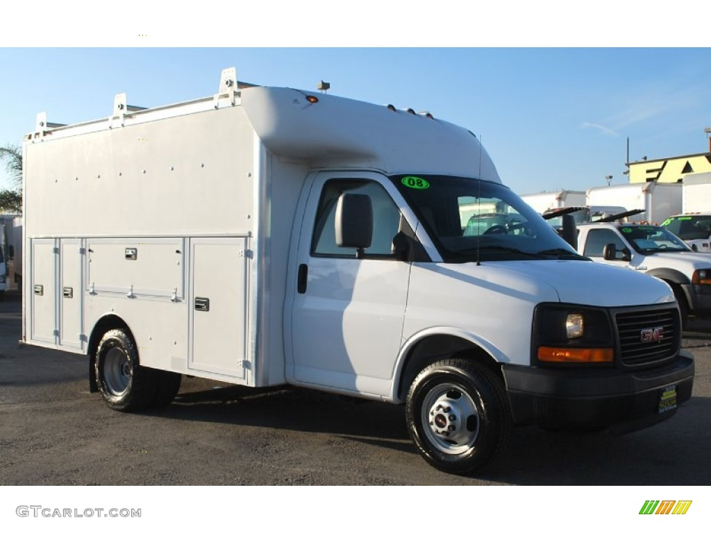 2008 gmc savana cutaway 3500 commercial moving truck. Black Bedroom Furniture Sets. Home Design Ideas