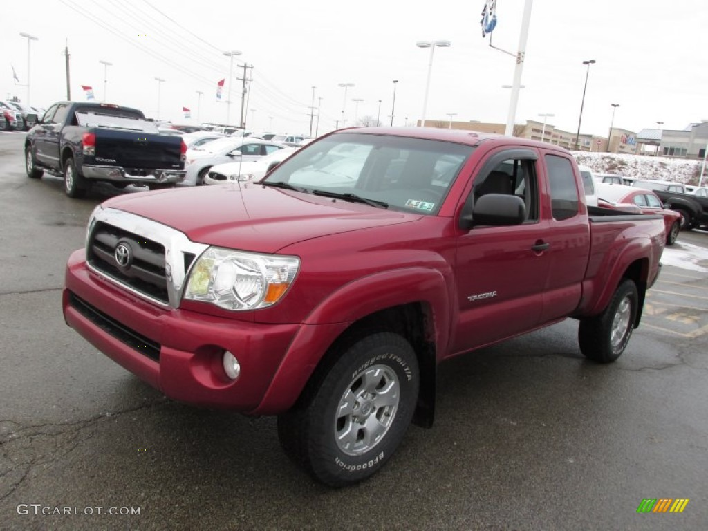 2007 Toyota Tacoma Access Cab News >> Impulse Red Pearl 2007 Toyota Tacoma V6 TRD Access Cab 4x4 Exterior Photo #89546653 | GTCarLot.com