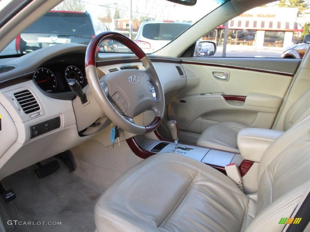 beige interior 2007 hyundai azera limited photo 89562571