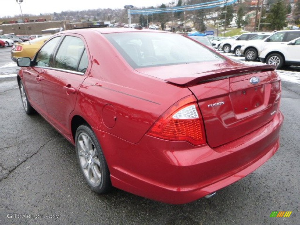 2011 Fusion SE V6 - Red Candy Metallic / Charcoal Black photo #4