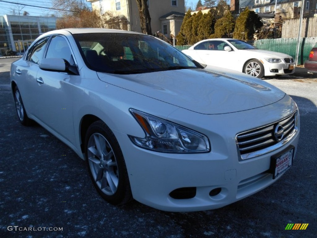 2014 pearl white nissan maxima 3 5 s 89567114 car color galleries. Black Bedroom Furniture Sets. Home Design Ideas