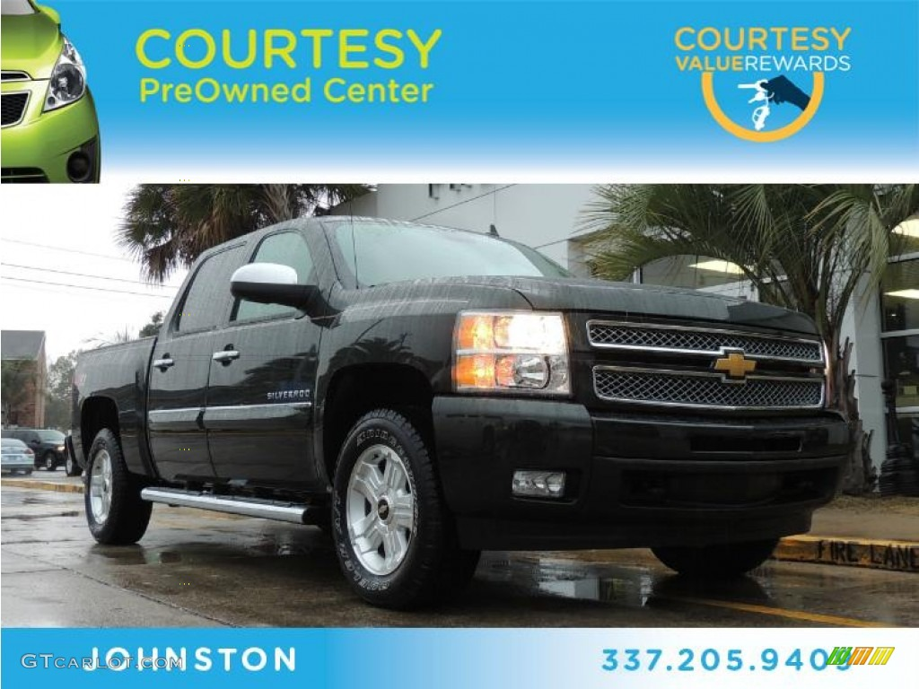 2013 Silverado 1500 LTZ Crew Cab 4x4 - Fairway Metallic / Light Cashmere/Dark Cashmere photo #1