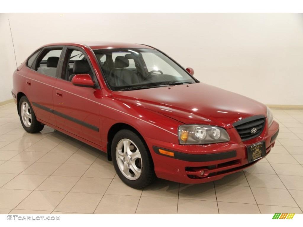 2006 electric red hyundai elantra gt hatchback 89567012 car color galleries. Black Bedroom Furniture Sets. Home Design Ideas