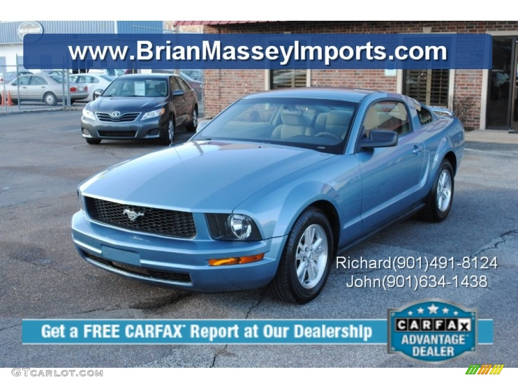 2006 Mustang V6 Deluxe Coupe - Windveil Blue Metallic / Light Graphite photo #1