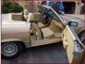 1981 SL Class 380 SL Roadster Parchment Interior