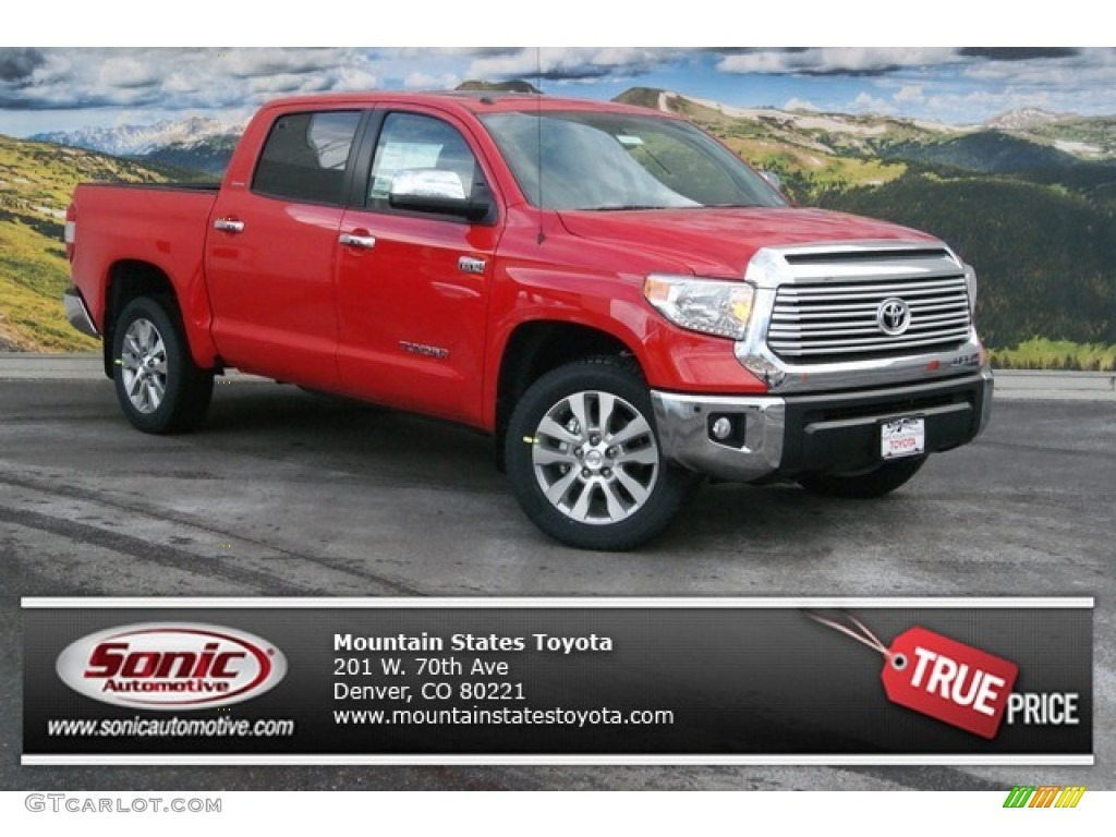 2014 Tundra Limited Crewmax 4x4 - Radiant Red / Graphite photo #1