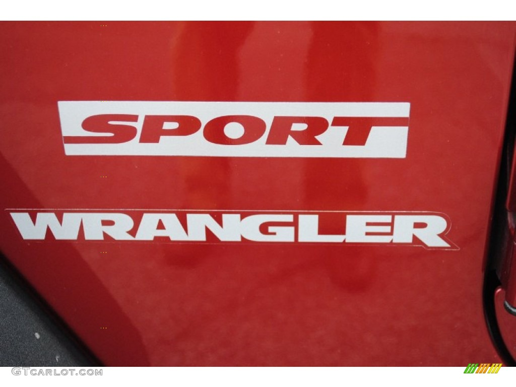 2012 Wrangler Sport 4x4 - Deep Cherry Red Crystal Pearl / Black photo #17