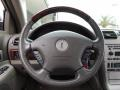 2004 Lincoln LS Shale/Dove Interior Steering Wheel Photo
