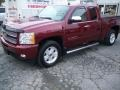 2013 Deep Ruby Metallic Chevrolet Silverado 1500 LTZ Extended Cab 4x4  photo #7