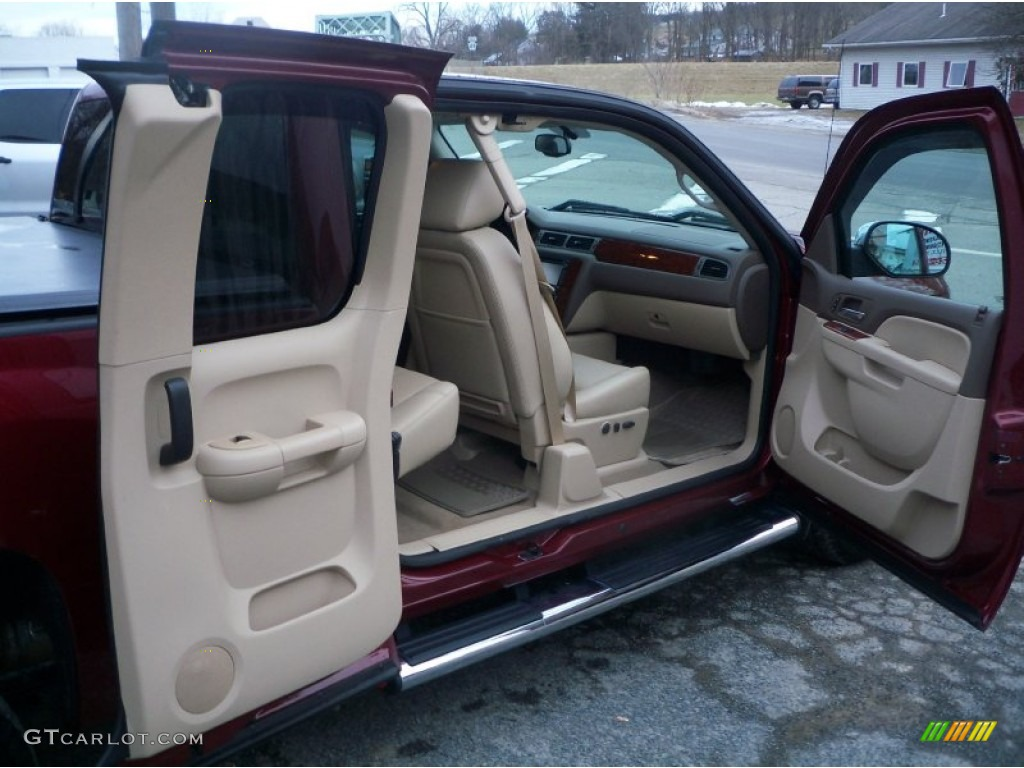 2013 Silverado 1500 LTZ Extended Cab 4x4 - Deep Ruby Metallic / Light Cashmere/Dark Cashmere photo #23