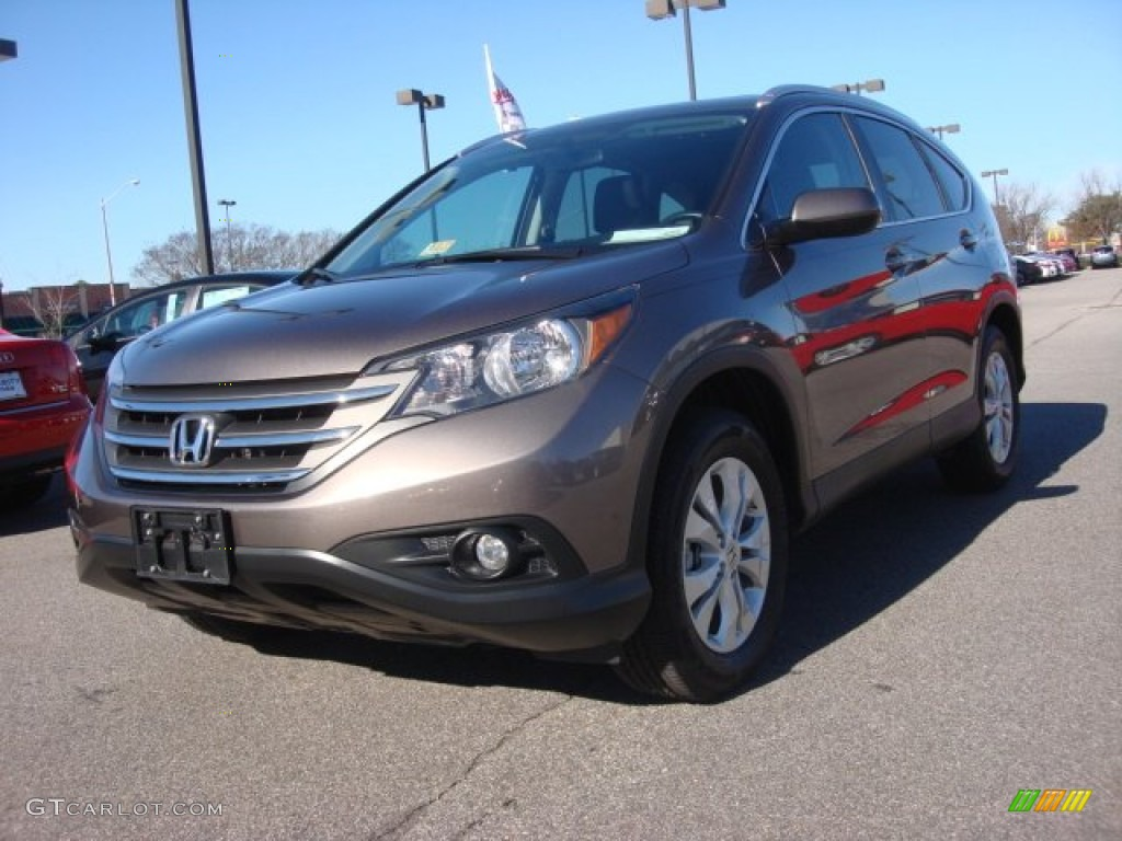 2013 CR-V EX-L AWD - Kona Coffee Metallic / Black photo #1