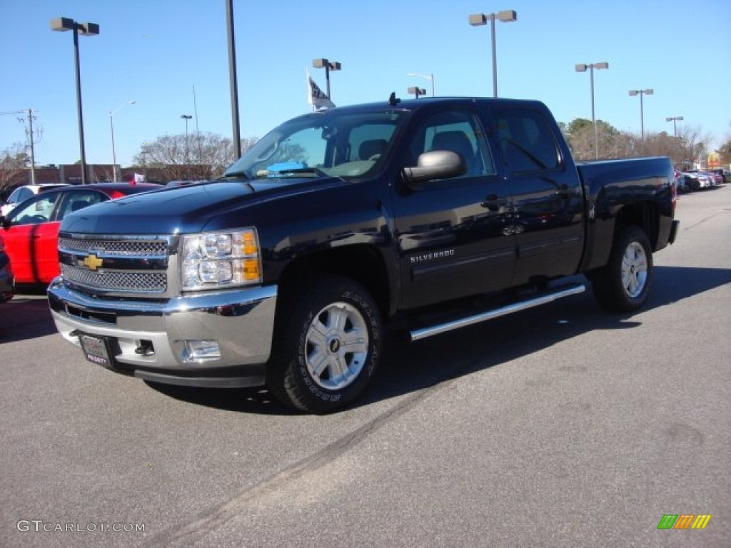 2012 Silverado 1500 LT Crew Cab 4x4 - Imperial Blue Metallic / Light Titanium/Dark Titanium photo #2