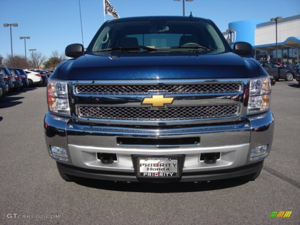 2012 Silverado 1500 LT Crew Cab 4x4 - Imperial Blue Metallic / Light Titanium/Dark Titanium photo #9