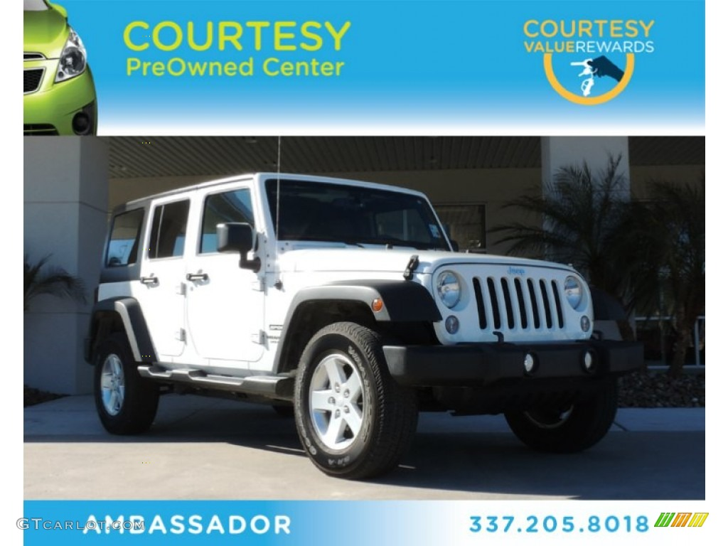 2014 jeep wrangler unlimited sport 4x4 bright white color black. Cars Review. Best American Auto & Cars Review