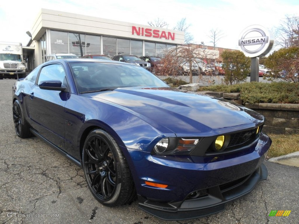 2012 mustang gt coupe kona blue metallic charcoal black photo 1