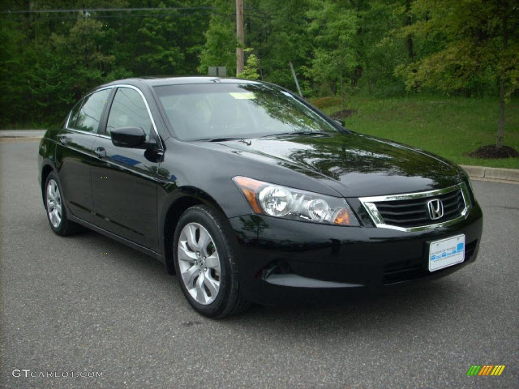 2009 crystal black pearl honda accord ex l sedan 8962690. Black Bedroom Furniture Sets. Home Design Ideas