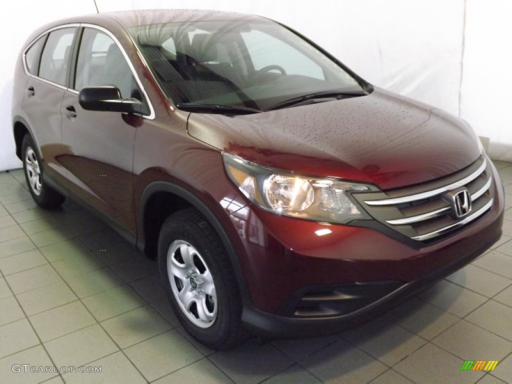 2014 CR-V LX - Basque Red Pearl II / Gray photo #1