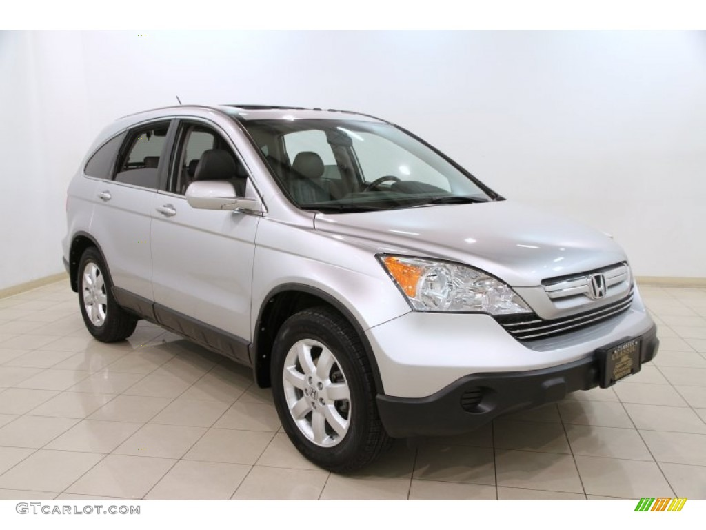 2009 CR-V EX-L 4WD - Alabaster Silver Metallic / Gray photo #1