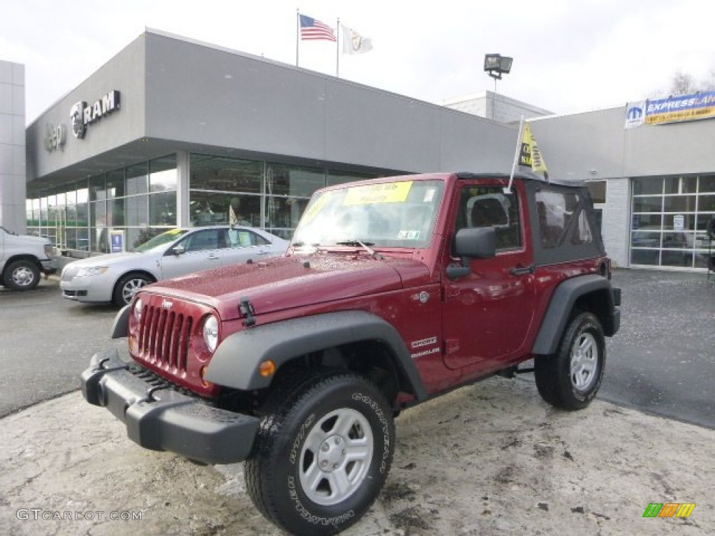 Deep Cherry Red Crystal Pearl Jeep Wrangler