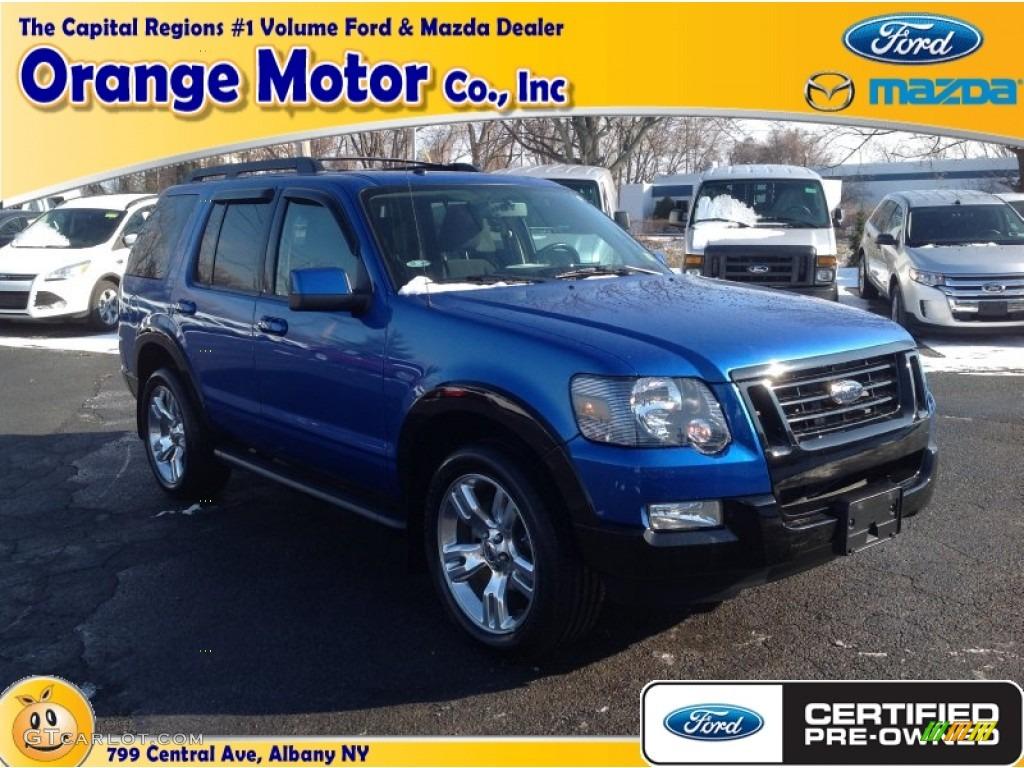 Blue flame metallic ford explorer