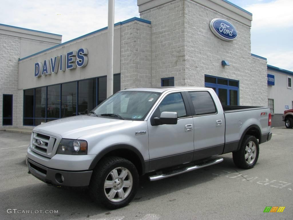 Silver metallic ford f150