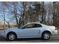 2002 Satin Silver Metallic Ford Mustang V6 Coupe  photo #3