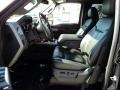 2011 Ford F250 Super Duty Black Two Tone Leather Interior Front Seat Photo