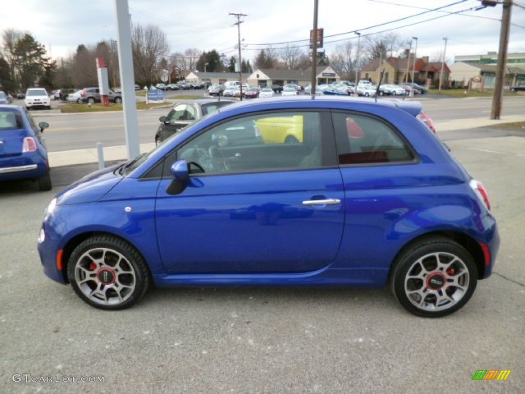 Azzurro Blue 2012 Fiat 500 Sport Exterior Photo
