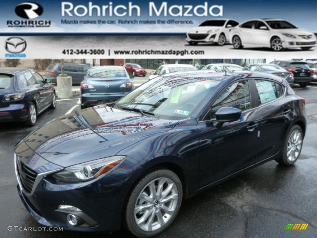 2014 Deep Crystal Blue Mica Mazda Mazda3 S Grand Touring 5 Door 89858154 Gtcarlot Com Car Color Galleries