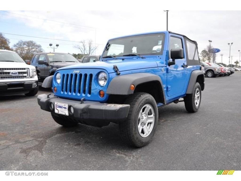 Cosmos Blue Jeep Wrangler