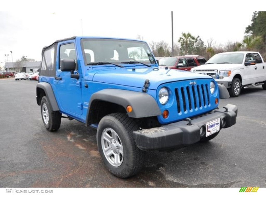 2012 Wrangler Sport 4x4 - Cosmos Blue / Black photo #3