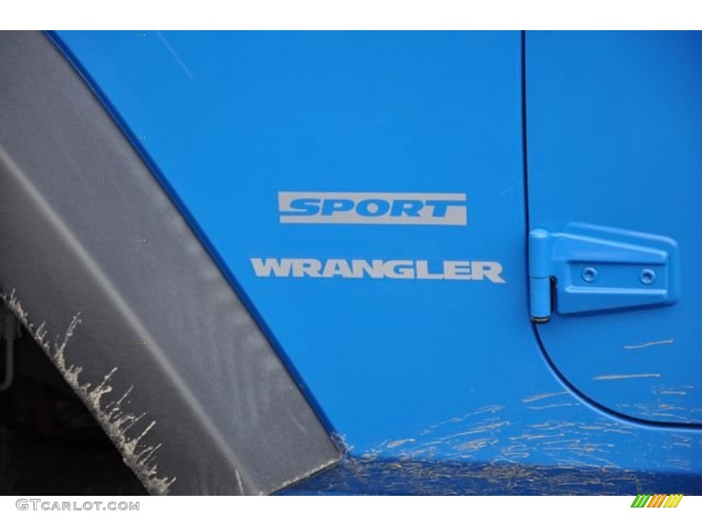2012 Wrangler Sport 4x4 - Cosmos Blue / Black photo #10