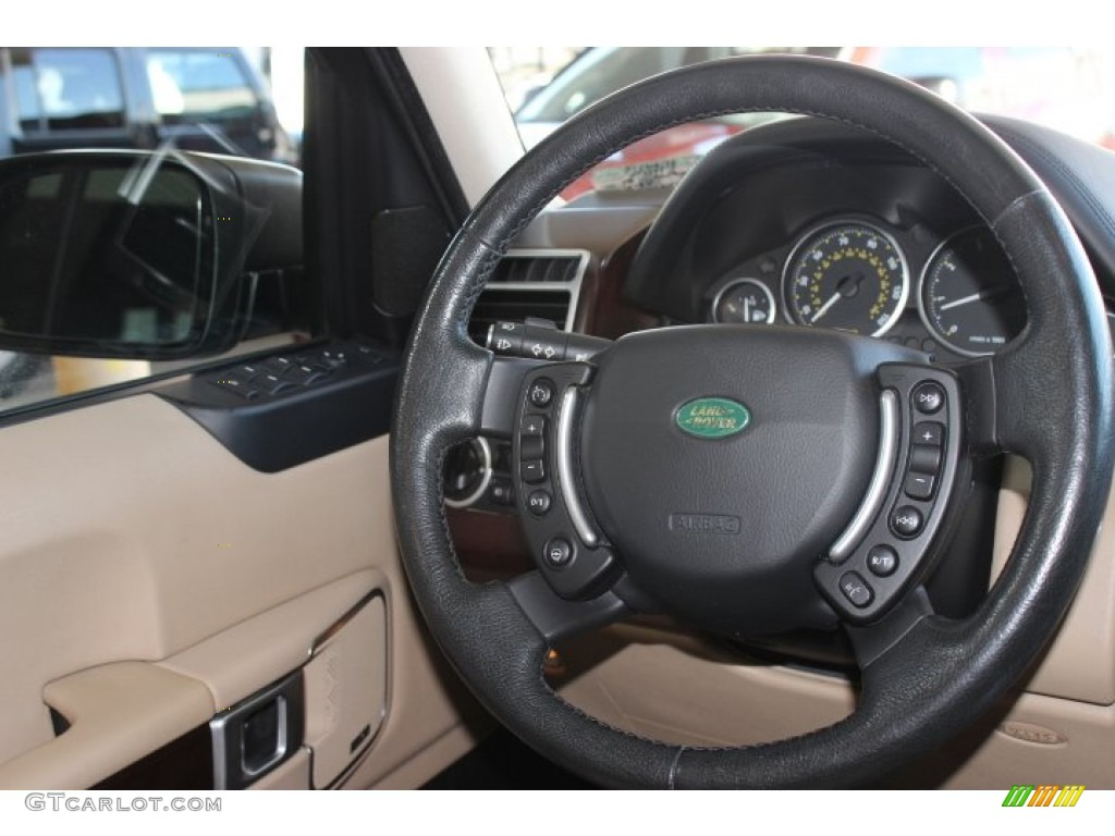 2007 Range Rover HSE - Java Black Pearl / Sand Beige photo #36