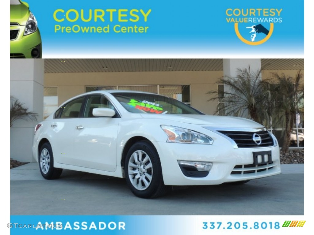 2013 pearl white nissan altima 2 5 s 89947114 car color galleries. Black Bedroom Furniture Sets. Home Design Ideas