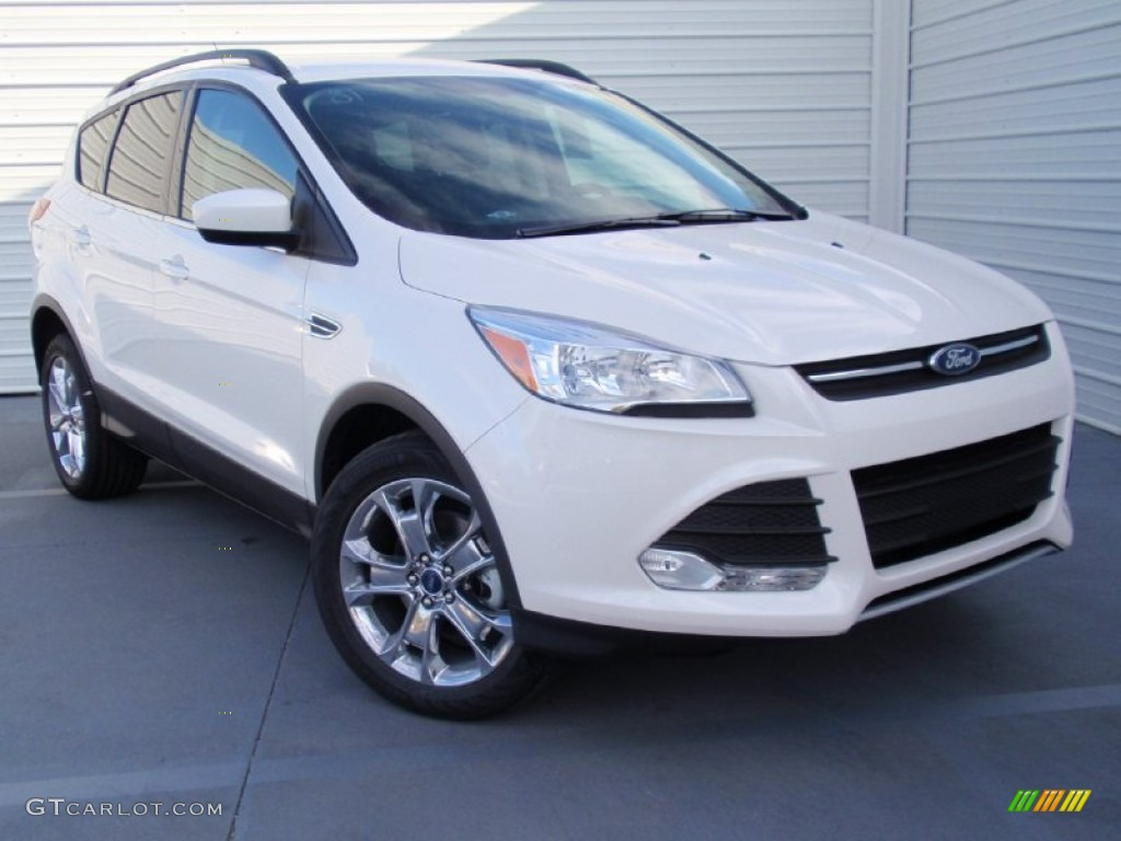2014 Escape SE 1.6L EcoBoost - White Platinum / Charcoal Black photo #1