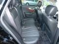 2010 Infiniti FX Graphite Interior Rear Seat Photo