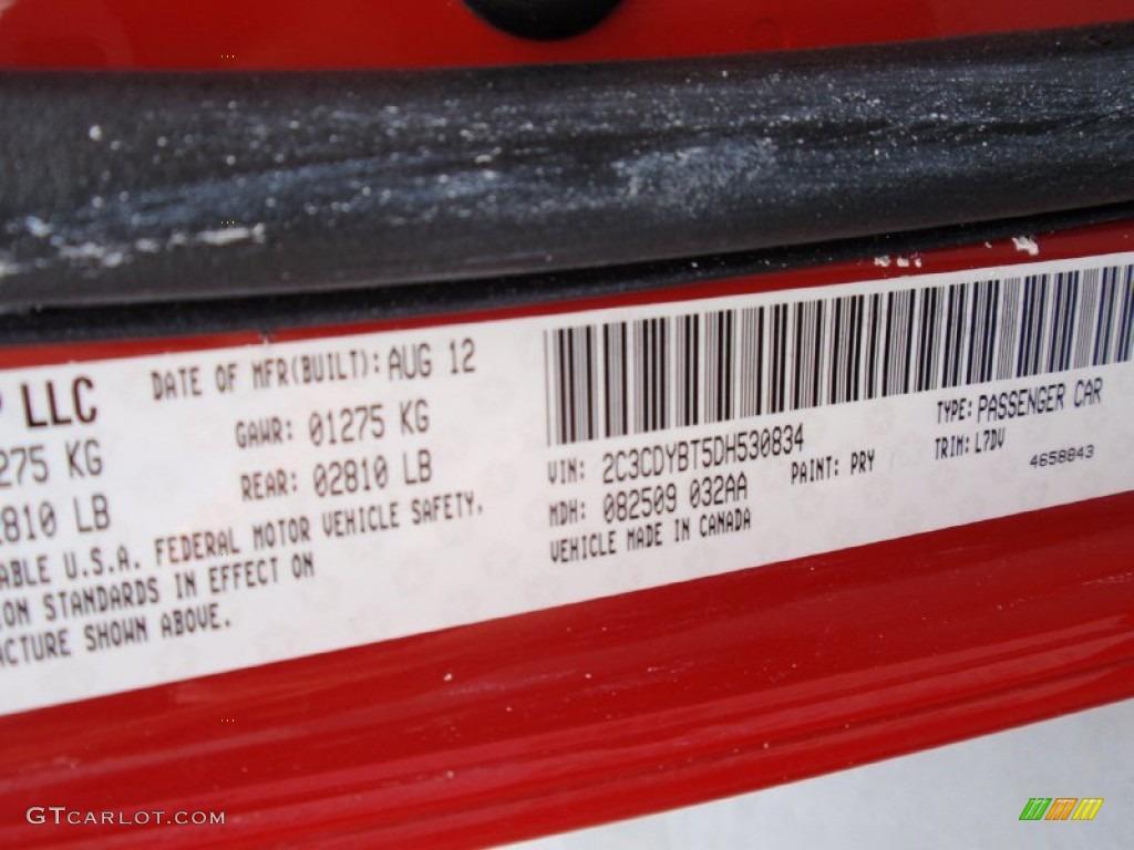 2013 Challenger R/T - Redline 3-Coat Pearl / Dark Slate Gray photo #43